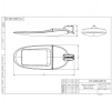 Светодиодный светильник уличный FLA 04A-180-850-WL